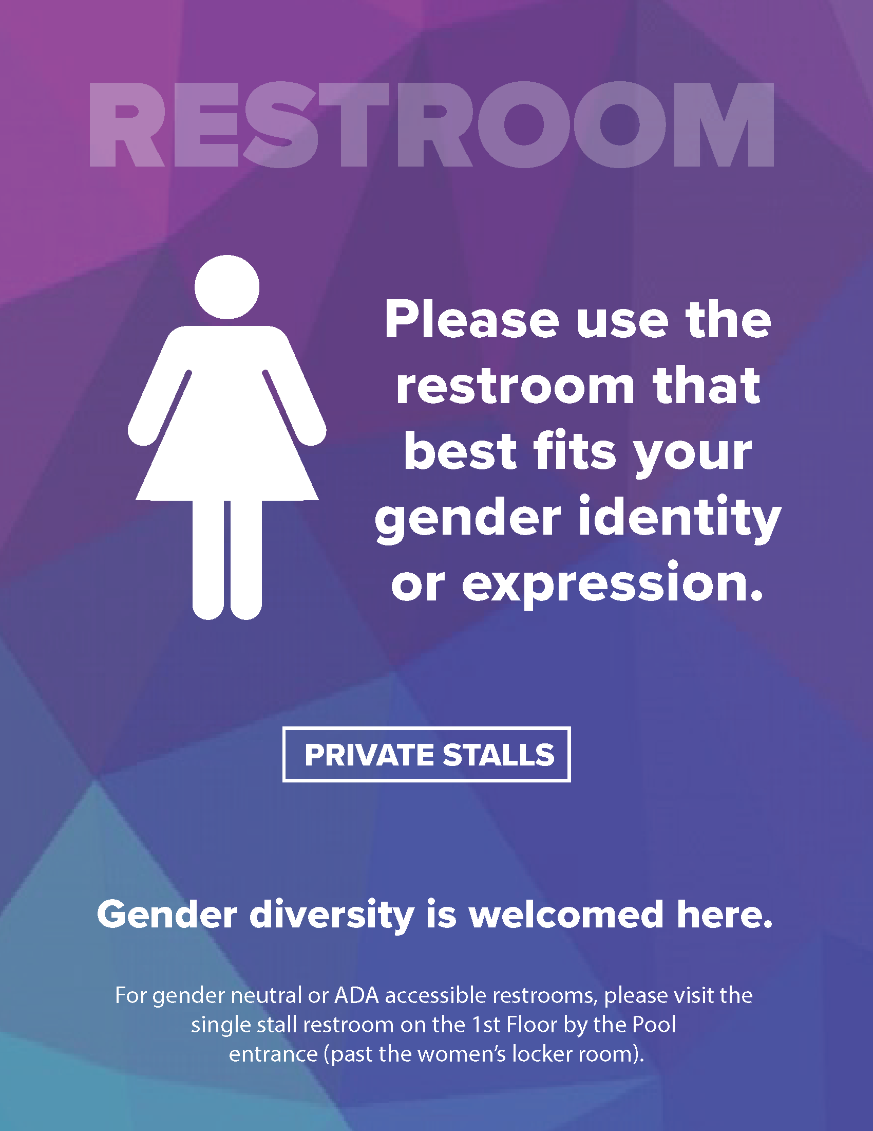 Gender Inclusive Bathroom Signage