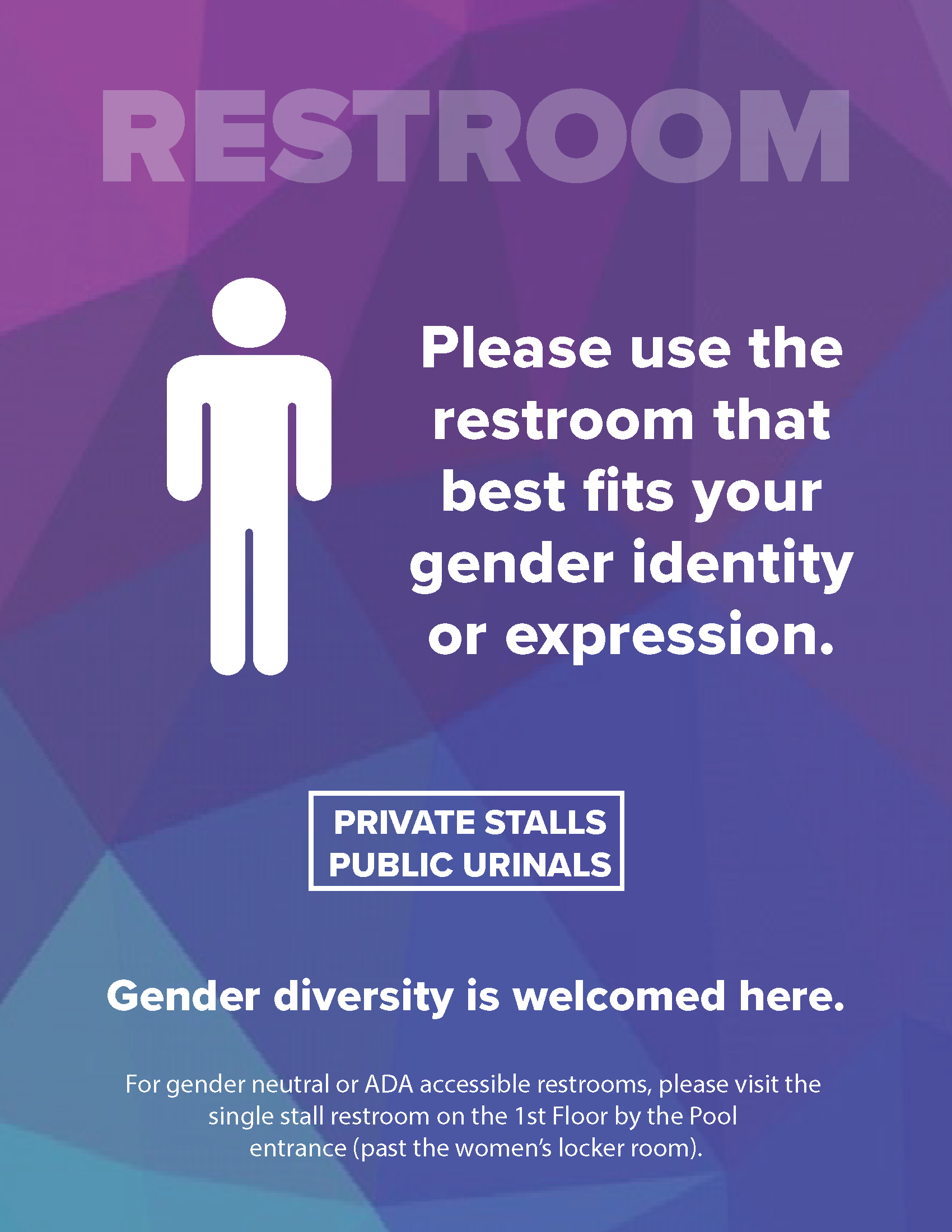 Gender Inclusive Bathroom Sigange